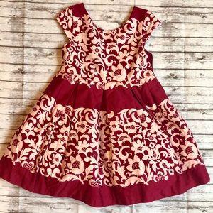 Janie and Jack Burgundy/Cream Dress 12-18 months
